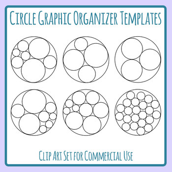 Circle Graphic Organizer Templates Clip Art Set for Commercial Use