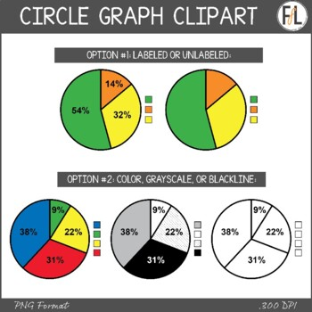 Circle Graphs - Clipart