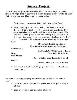 Circle Graphs: Conducting a Survey