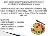 Circle Graphs / Pie Charts Powerpoint and Activity