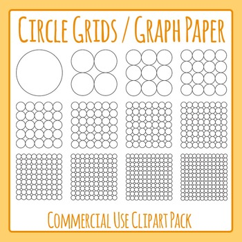Circle Grids / Graph Paper Commercial Use Clip Art Pack