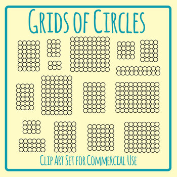 Circle Grids Graphic Organiser Template Clip Art Set for Commercial Use