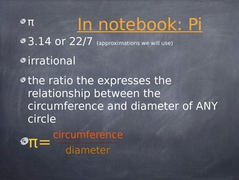 Circle Intro and Discover Activity and PI