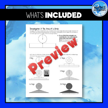 Pi Day Activity - Circle Investigation: Discovering Pi and Area & Circumference