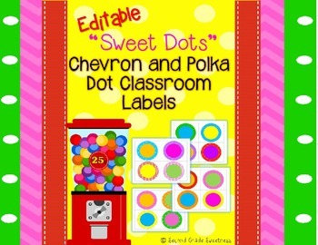 Circle Labels for Your Classroom {Editable}