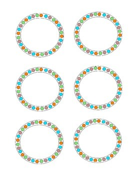 Circle Labels (A set with 2 sizes) Freebie
