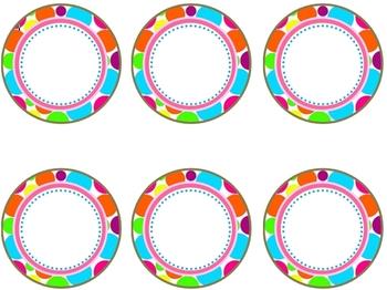 Polka Dot Circle Labels {Editable}