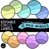 Circle Labels - Editable