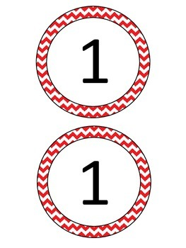Circle Labels - Numbers 1-10