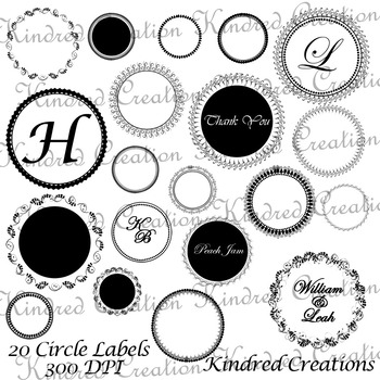 Circle Labels Set 2