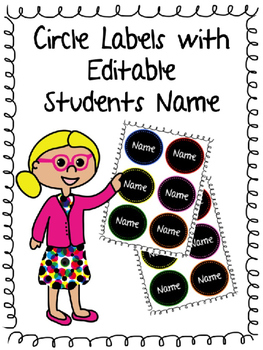 Circle Labels for Students Name in Classroom