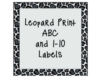 Circle Leopard Print ABC & 1-10 Labels
