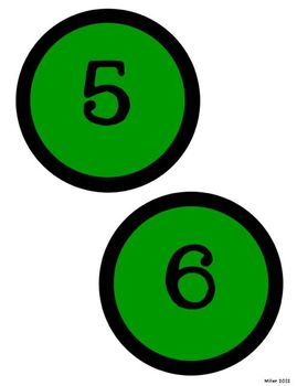 Circle Letters GREEN AND BLACK