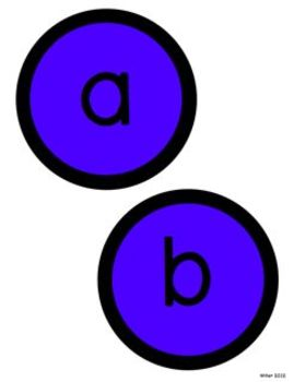 Circle Letters BLUE and BLACK