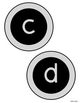 Circle Letters GRAY and BLACK