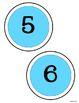 Circle Letters LIGHT BLUE