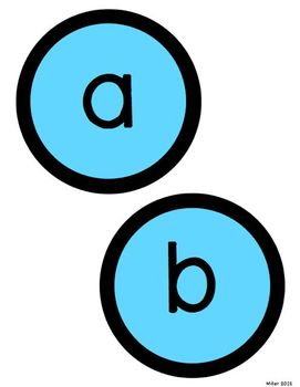 Circle Letters LIGHT BLUE AND BLACK