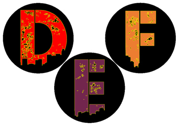 Circle Letters and Numbers - Urban Jungle font