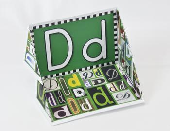 Circle-Line Alphabet Display Case: D