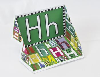 Circle-Line Alphabet Display Case: H