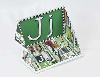 Circle-Line Alphabet Display Case: J