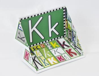 Circle-Line Alphabet Display Case: K
