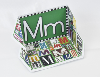 Circle-Line Alphabet Display Case: M