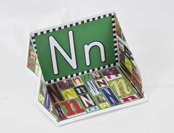 Circle-Line Alphabet Display Case: N