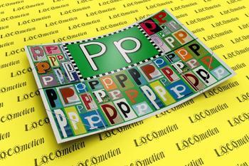 Circle-Line Alphabet Display Case: P