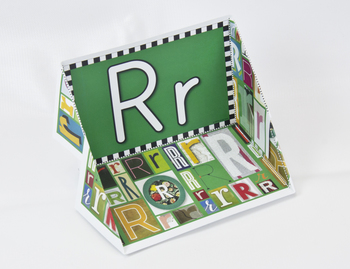Circle-Line Alphabet Display Case: R