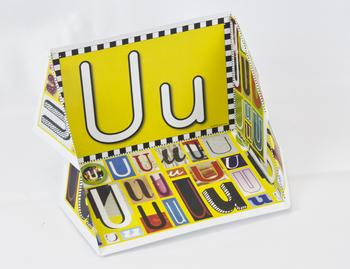 Circle-Line Alphabet Display Case: U