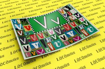 Circle-Line Alphabet Display Case: V