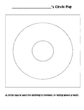 photo regarding Printable Circle titled Circle Map Template Worksheets Education Elements TpT