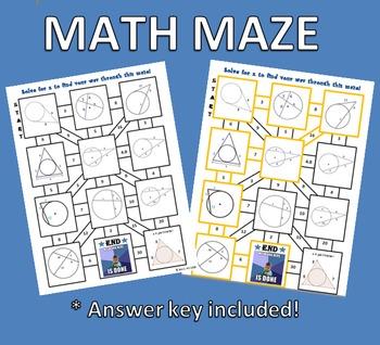Circle Math Maze