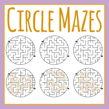 Circle Mazes Commercial Use Clip Art Set