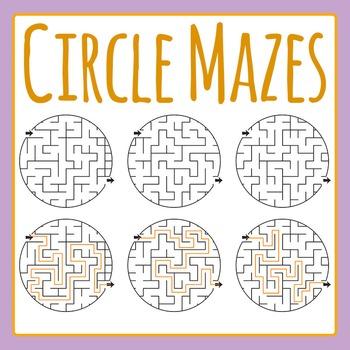 Circle Mazes Commercial Use Clip Art Set