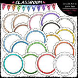 Circle Message Boards Clip Art - Circle Frames Clip Art