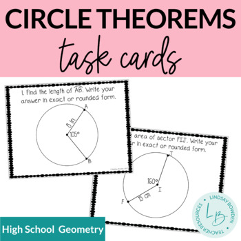 Circle Theorems Task Cards