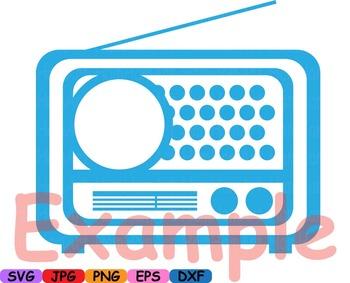 Circle Monogram 50's Retro Vintage radio text frame tv car cars music note -118s