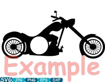 Circle Motorbike Cutting Files SVG Motorcycle clipart motor bike t-shirt -329s