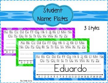 Circle Nameplates