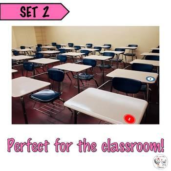 Circle Number Labels Set 2 - Computer Lab | Classroom | Desk | Organizer