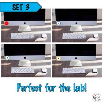 Circle Number Labels Set 3 - Computer Lab | Classroom | Desk | Organizer