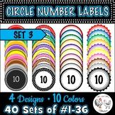 Circle Number Labels Set 3 - Computer Lab | Classroom | De