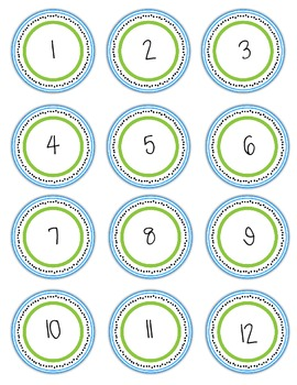Circle Number Labels for Multiple Uses