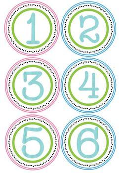 Circle Number Set