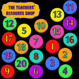 Circle Numbers Cards 1-20 - Line up cards