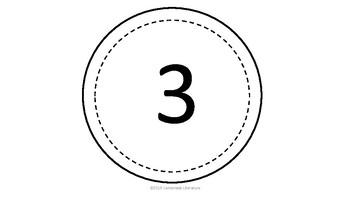 Circle Numbers One Through Ten Black & White