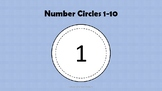 Circle Numbers One Through Ten Black & White