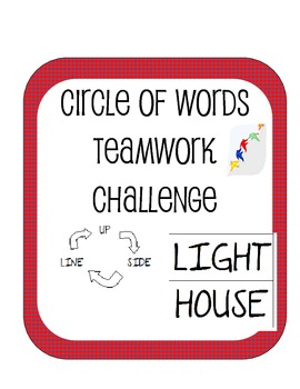 Circle Of Words Team Building Challenge Cooperative Communication Activity STEM